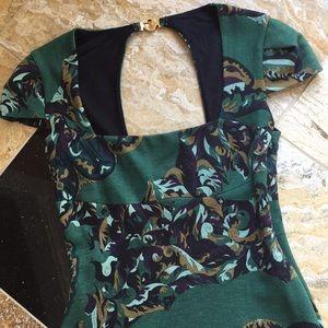 Emilio Pucci emerald square neckline vintagefitted